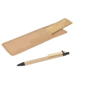 BAMBOO RULER WITH POUCH