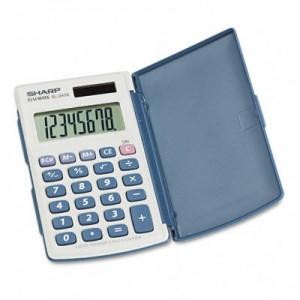EL-243SB+Basic+Calculator,+Eight-Digit+LCD