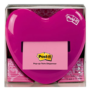 Pink Heart Pop Up Dispenser