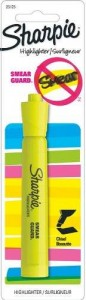 Sharpie Florescent Yellow Highlighter