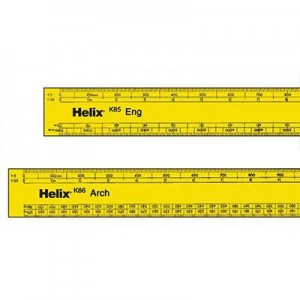 Helix Engineers Scale Rules and Architects Scale Ruler